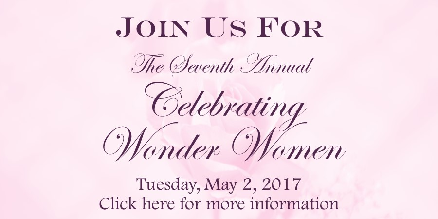 Celebrating Wonder Women 2017 Save the Date Home Page with date