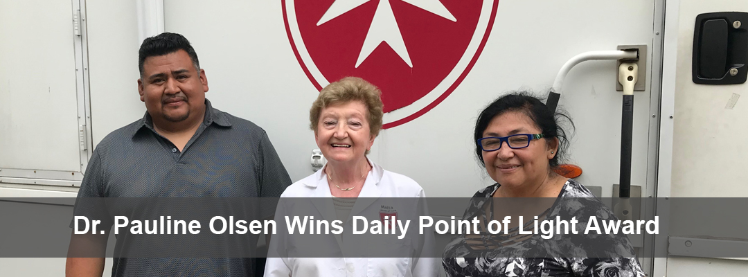 Dr. Pauline Olsen, Points of Light Winner